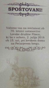VABILO 70 www